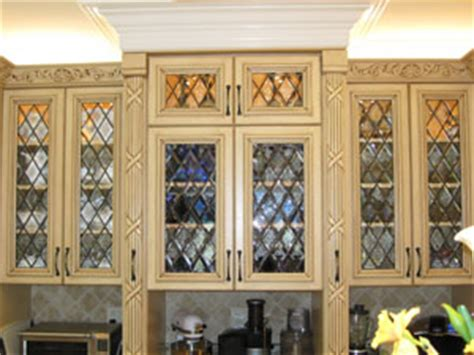 Leaded Glass Kitchen Cabinets by The Beveled Edge Textured And Architectural Glass