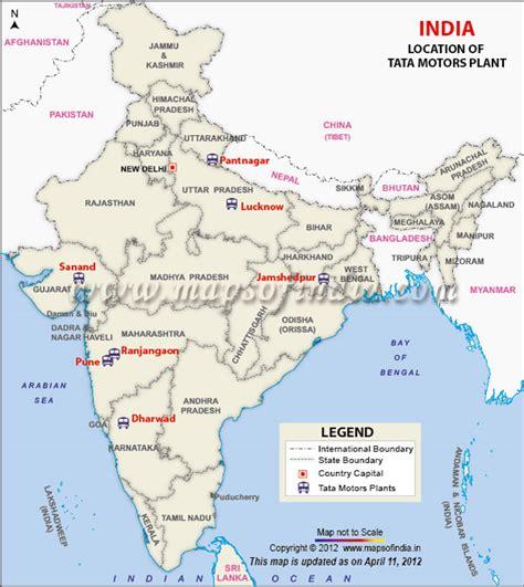 tata motors  map  tata motors plants  india