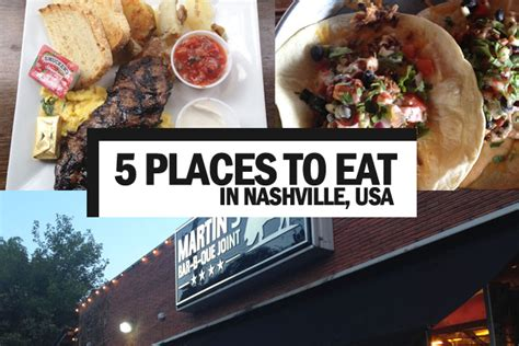 five places you have to eat when in nashville tennessee the au review