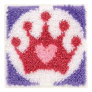 wonderart 426204 princess crown rug latch hook kit 426204