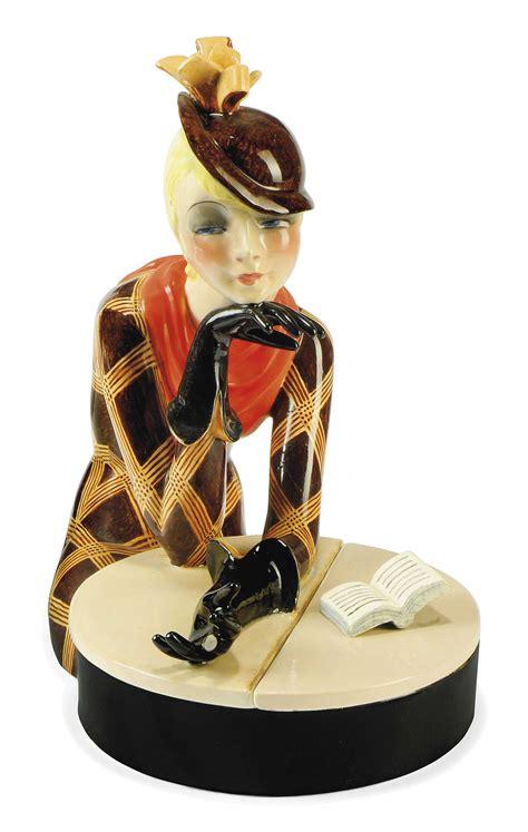 al caffe  lenci ceramic figural box  helen koenig