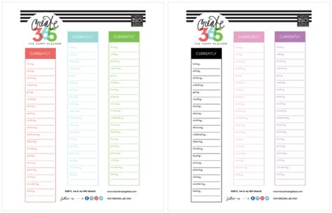 printable happy planner pages happy planner printables free uma printable