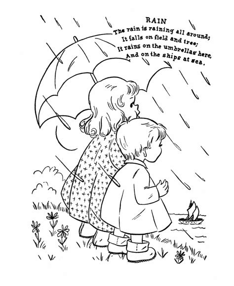 nursery rhyme coloring page rain coloring books and