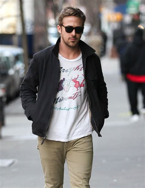 zip hair styl ryan gosling zip up jacket ryan gosling looks stylebistro