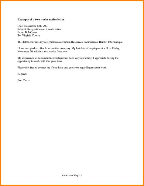 Best Two Weeks Resignation Letter 10 best two weeks notice letter dialysis