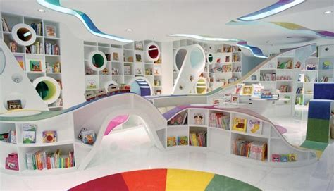 kid spaces design curvy design in a children s library the pops of