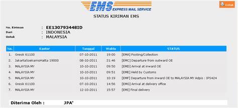 format pengiriman paket melacak status pengiriman paket via pos indonesia dhm