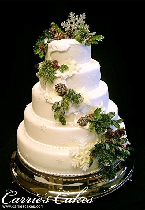 christmas wedding cakes ideas  pinterest winter wedding cakes big  christmas