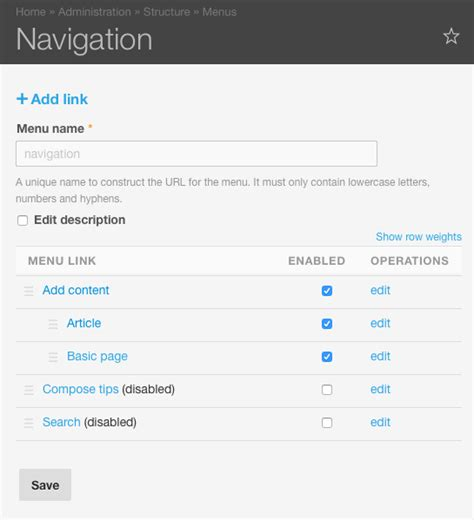 drupal theme list of links drupal admin theme guide mobile elegant