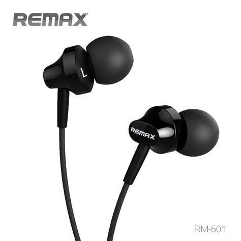 Remax Earphone With Microphone Rm 501 Remax Earphone With Microphone Rm 501 Black Jakartanotebook