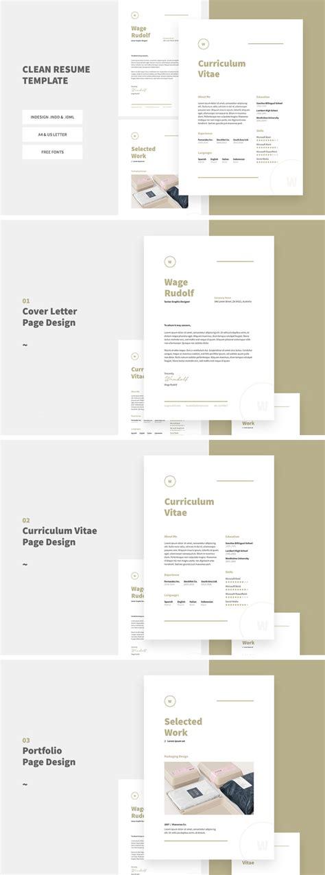 clean resume template digital downloads