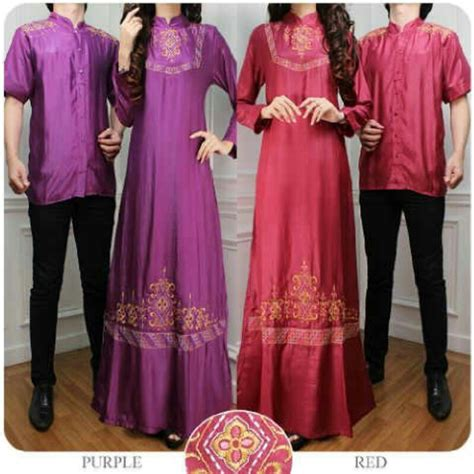 desain gaun couple pakaian muslimah couple 20 desain baju muslim keluarga