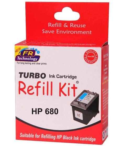 Catridge Hp Deskjet 680 Black Original turbo refill kit for hp 680 black cartridge available at snapdeal for rs 294
