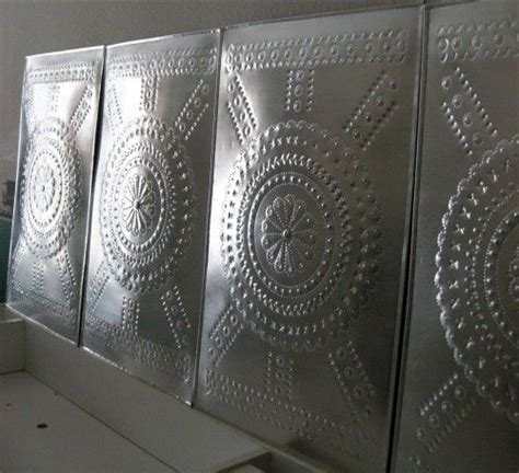Punched Tin Cabinet Panels by 26 Best Images About Punched Tin On Trash Bins