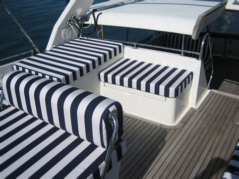 Yacht Upholstery by Colin Rouse Auto Trim Cornwall Motor Yacht Upholstery
