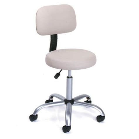 Doctors Stool With Back by Beige Vinyl Doctors Stool W Adjustable Height Back