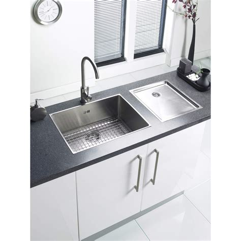 Brushed Stainless Steel Sink Axiomseducation Com Large Kitchen Sinks Bowl