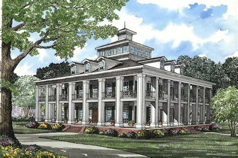 southern plantation house 5 bedrm 4874 sq ft southern house plan 153 1187