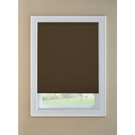 cordless shades shop levolor toffee room darkening cordless polycotton cellular shade common 36 in actual 35