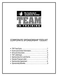 Non Profit Sponsorship Agreement Template by Sponsorship Agreement Nonprofit