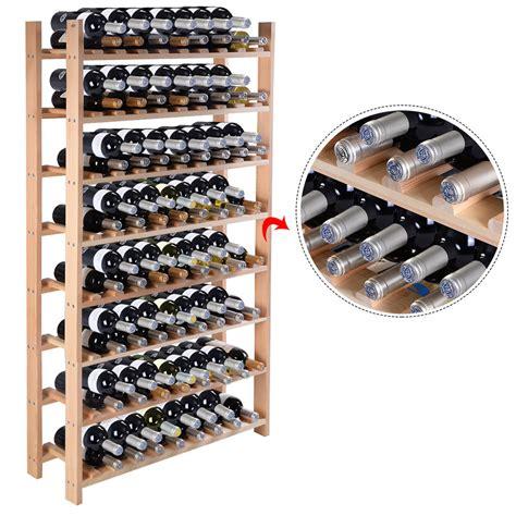 Ebay Wine Racks by New 120 Bottle Wood Wine Rack 8 Tier Storage Display