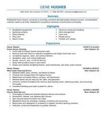Residential House Cleaner Resume Example Maintenance