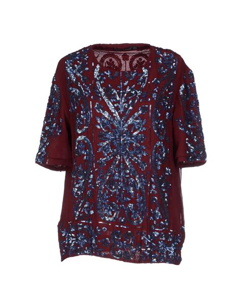 antik batik blouse in purple lyst