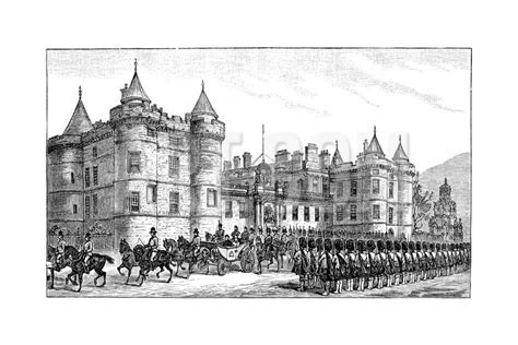 printable vouchers edinburgh the queen leaving holyrood palace edinburgh 1886 giclee