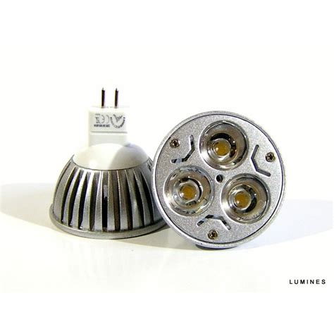 Lu Led Halogen Motor mr16 led halogen 12v 3w 300lm 3x1w hp led bia蛛y zimny
