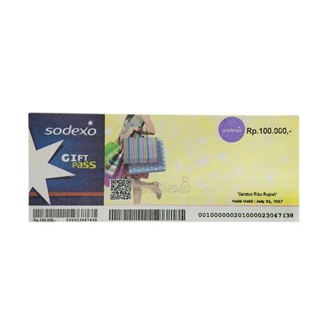 Voucher Sodexo 100 000 by Jual Sodexo Gift Pass Physic Voucher Rp 100 000