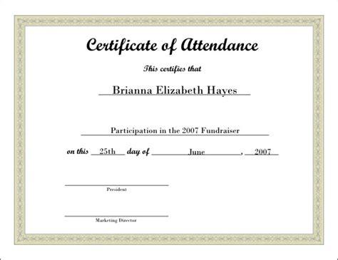 Free attendance award certificate template free attendance award free attendance award certificate template yadclub Gallery