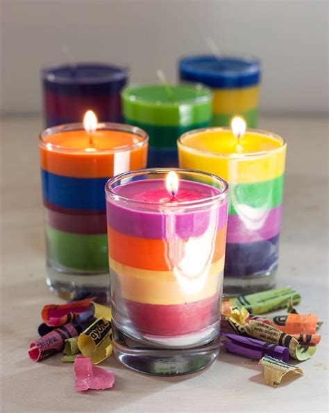 diy candle crafts diy crayon candles