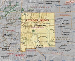 Nuevo Mexico Map by Mapa De Nuevo Mexico World Of Map