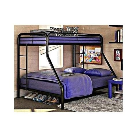 dorm loft bed twin bunk bed over full size black metal frame loft teen
