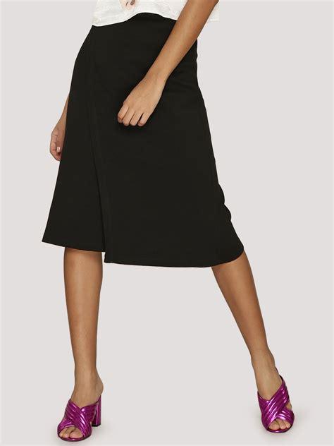 buy koovs elastic waist wrap midi skirt for
