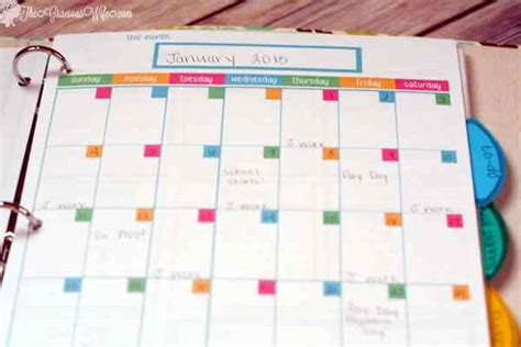 printable planner pages for 3 ring binder home management binder free printables the gracious wife