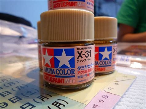 Tamiya Acrylic X 31 Paint X 31 X31 Akrilik Tita Gold Titanium Color みんカラ tamiya color acrylic paint mini x 31 チタンゴールド ハリアー by chime