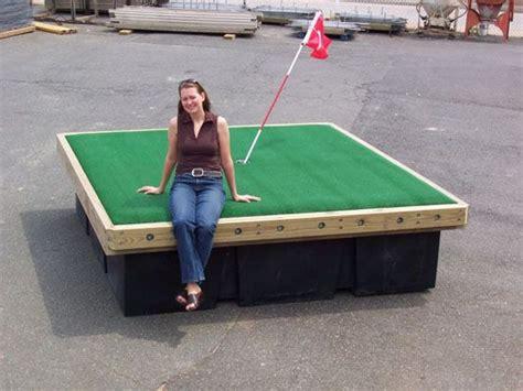 floating golf green built   floating boat docks