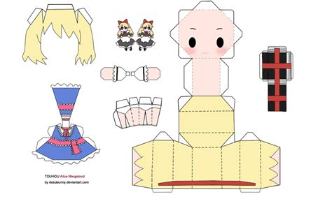 Touhou Papercraft - margatroid papercraft by tsunyandere on deviantart