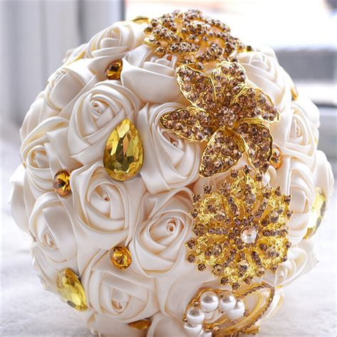 Wedding Bouquet Gold by Popular Gold Bouquets Buy Cheap Gold Bouquets Lots From