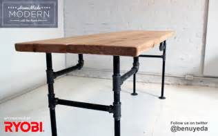 diy pipe table from ben uyeda modern
