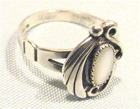 01e44erbest Seller Ring Pearl Simple Silver sterling silver white of pearl ring size 6 pearl