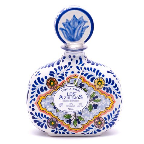 azulejo red wine los azulejos double distilled tequila anejo 40 alc