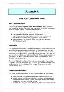 Committee Charter Template by Sarbanes Oxley Audit Committee Guide