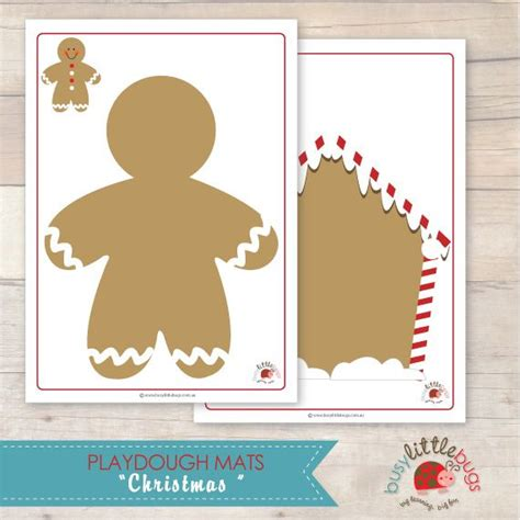 printable gingerbread man playdough mats 40 best images about playdough mats on pinterest jungle