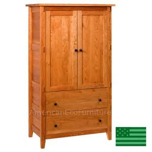 Unfinished Wood Armoire Amish Banyan Armoire Solid Wood Made In Usa American