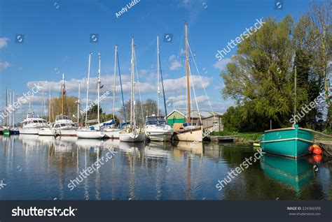 sailing boat on canal sailing boats yachts on exeter canal stock photo 224366509