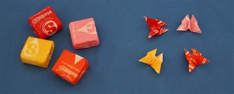 Origami With Gum Wrapper - wrapper origami