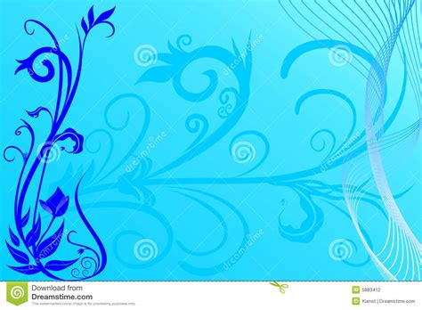 17468 Blue Flowers 2 Warna blue flower background stock vector image of fashion 5883412