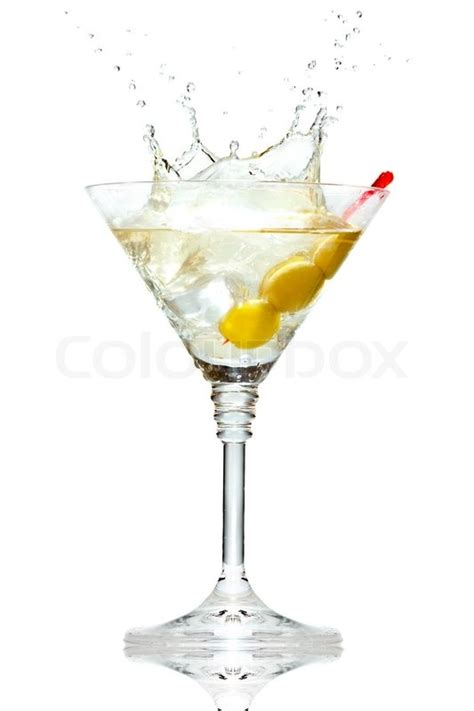 martini clipart no background olive splashing on martini glass isolated on white